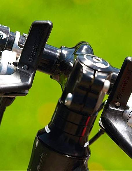 You'll need to preselect gears more accurately before corners and climbs with these 'butterfly' shifters