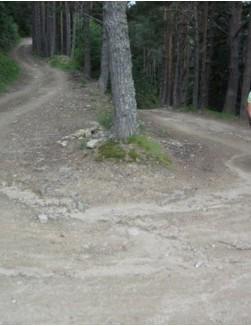 L'Etape diarist Lindsay Crawford navigates a dirt road ride in France recently.