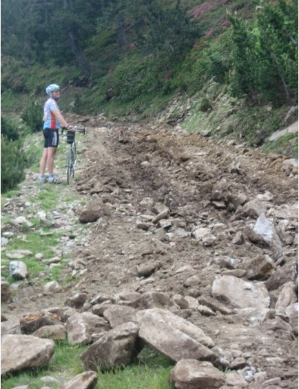 Not many avid mountain bike riders would tackle this...