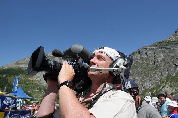 Footage from this cameraman could well appear on our Tour de France highlights