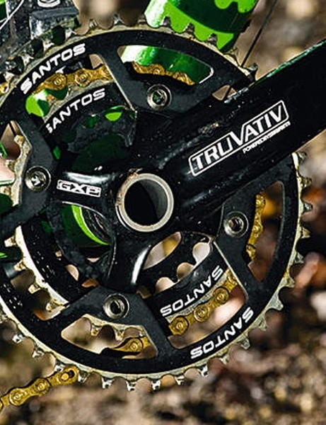 truvativ's Firex crank  performs well as do  santos' own chainrings