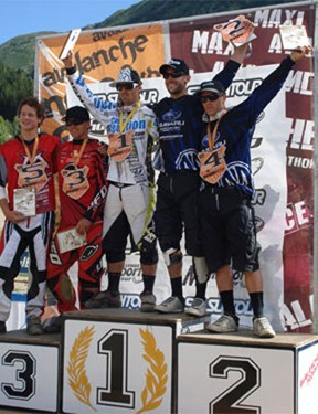 Team CRC/Intense's Chris Kovarik won the Avalanche Cup sprint race in Oz en Oisans