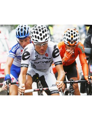 Stage 13 winner Heinrich Haussler with his breakaway companions.