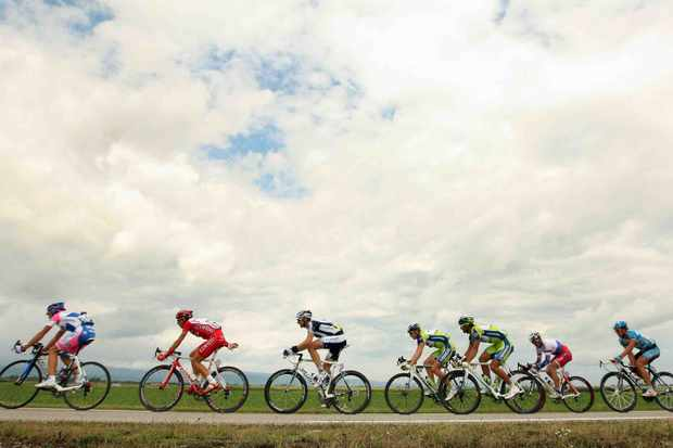 The breakaway of stage 14.