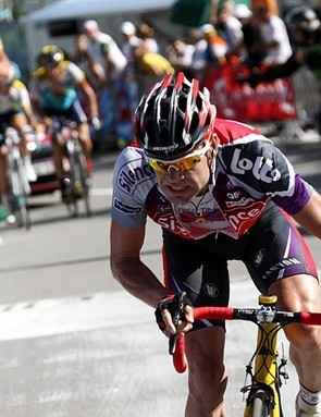 Cadel Evans tried to limit the damage today