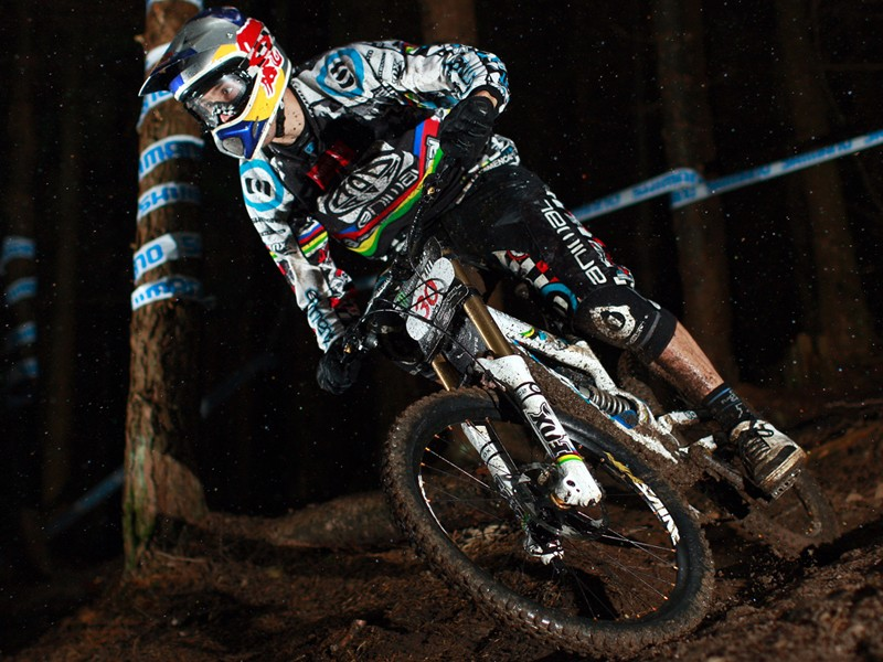 Gee Atherton is the 2009 British downhill mountain biking champ