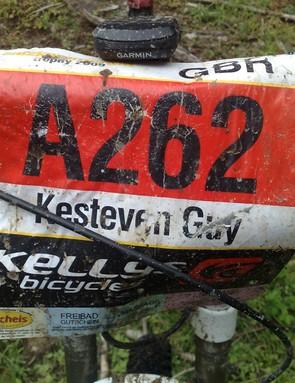 Guy's numberboard from the Salzkammergut Extreme Marathon