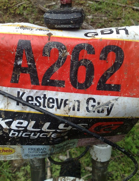 Guy's numberboard from the Salzkammergut Extreme Marathon