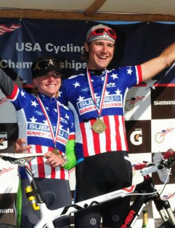 Husband and wife duo Heather Irmiger and Jeremy Horgan-Kobelski were crowned US national cross-country champions