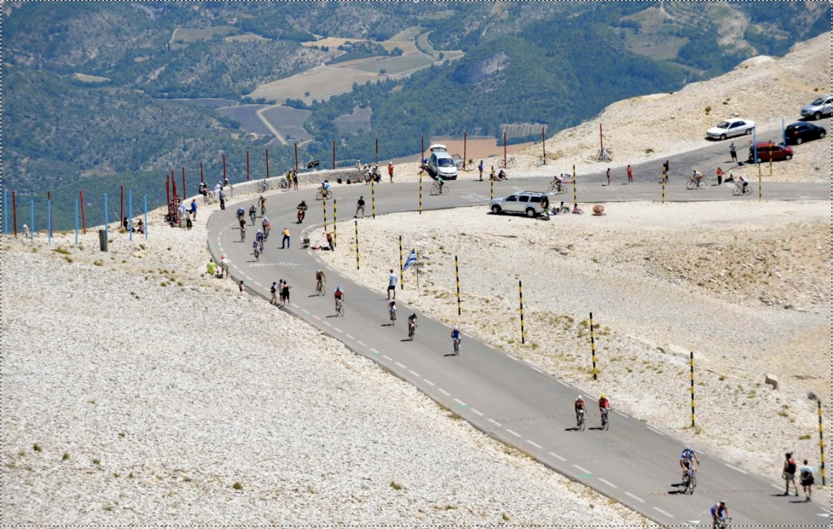 The top of Mt Ventoux is a dry, arrid place unlike anything most cyclists will experience anywhere else.