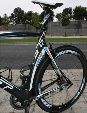 The AR's deep-section seat tube more closely resembles that of a time trial frame than a typical road bike.