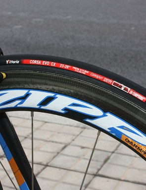 Vittoria Corsa EVO-CX tubulars remain one of the most popular choices in the pro peloton.