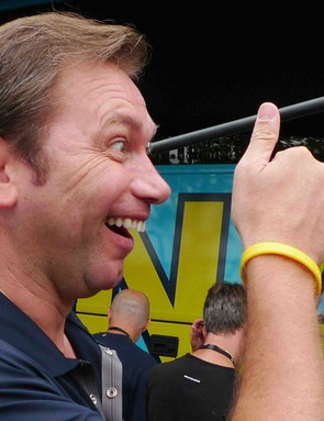 Astana general manager Johan Bruyneel during the 2009 Tour de France.