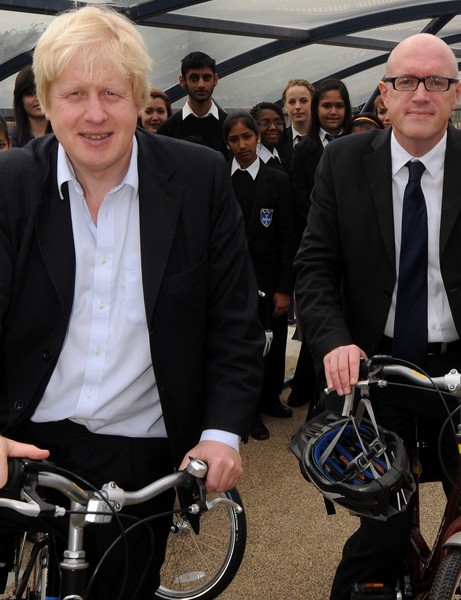 Mayor of London Boris Johnson, left, is urging people to explore Hounslow during a free Skyride event. Pictured right is Peter Thompson, leader of Hounslow Council