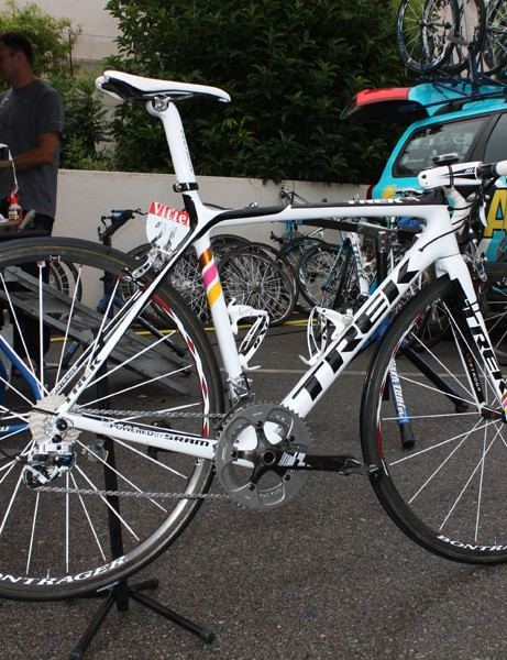 Alberto Contador (Astana) is oh-so close to his second Tour de France victory aboard Trek's new 6 Series Madone.