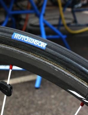Hutchinson tubulars on Bontrager rims: a familiar sight and a proven combination.