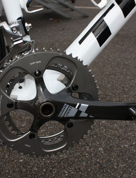 Contador's SRAM Red crankset runs with a remarkably low level of friction thanks in part to Enduro ZERØ hybrid ceramic bearings but also some 'special work' by Munoz.
