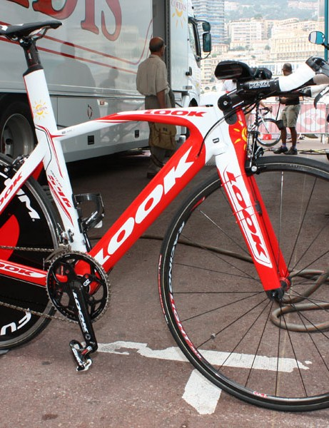 The Cofidis team is using Look's new 596 model for time trials.