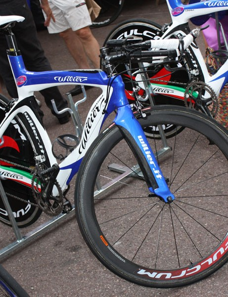 Lampre's Wilier time trial bikes are among the curvier models in the peloton.