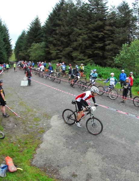 Excellent riding at the special stage of the 2009 TransWales