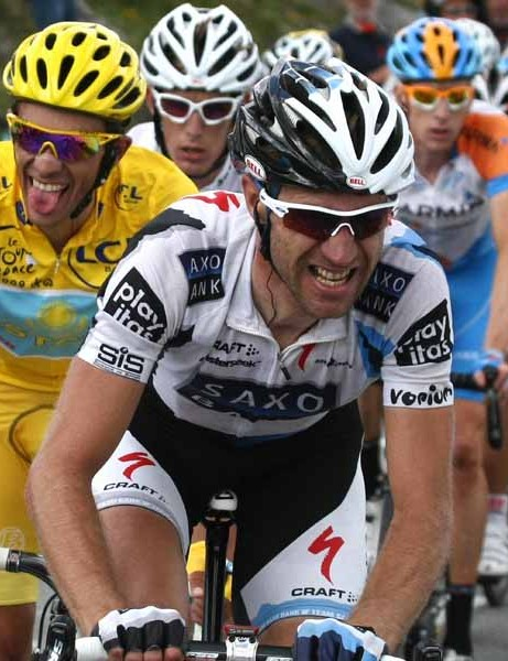 Jens Voigt, shortly before his crash in stage 16