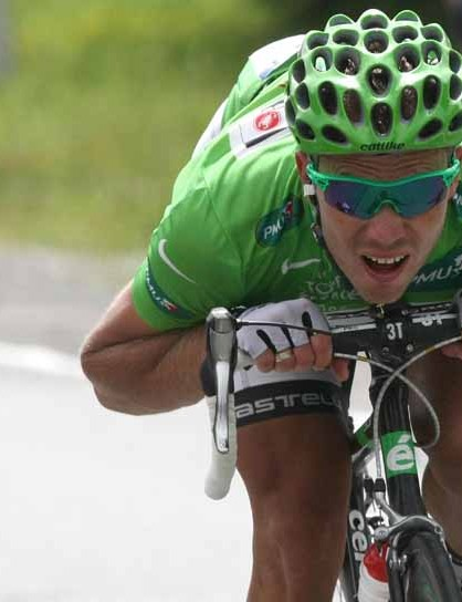 Thor Hushovd during his long break in stage 17