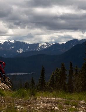 Working it in British Columbia.