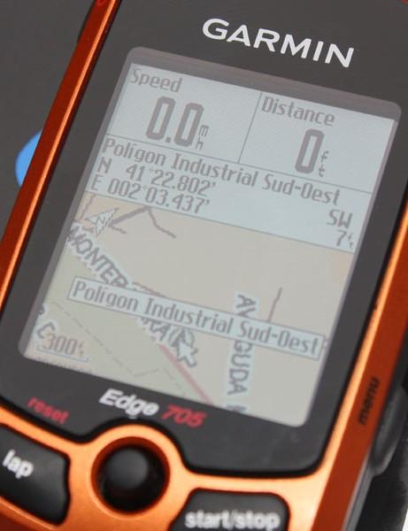 Garmin-Slipstream is using Garmin Edge 705 GPS-enabled computers to help analyze critical courses.