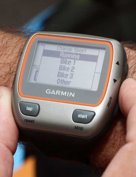 Which sport shall I do today?  The Garmin Edge 310XT can swap between several different choices.