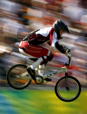 Maris Strombergs of Latvia en route to winning Olympic gold in Beijing.