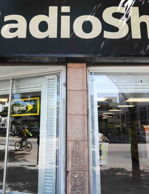 A RadioShack storefront in Santa Mocia, California.