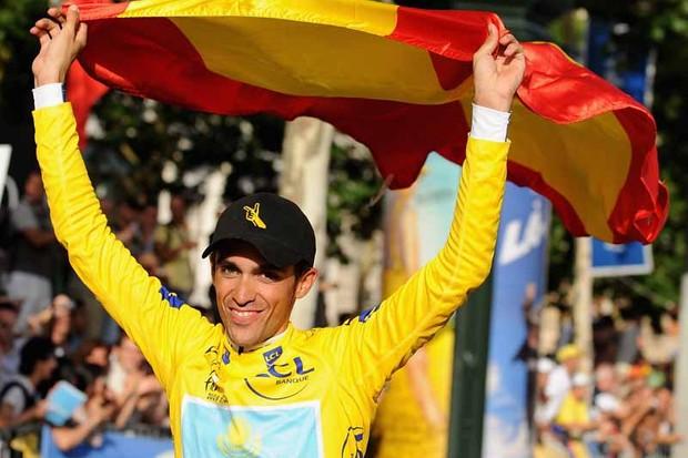 Alberto Contador's win was hailed in Spain