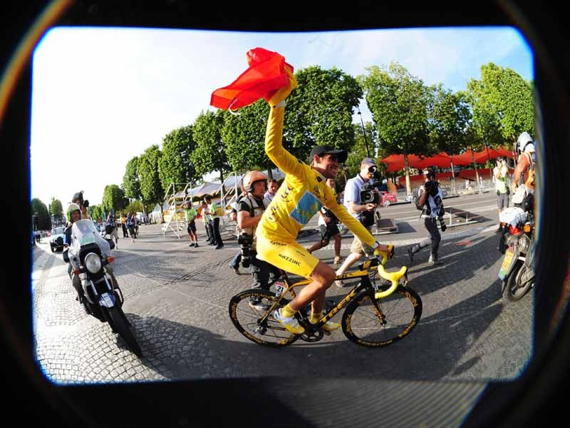 Millions of Spaniards watched Contador's final triumph on the Champs Elysees