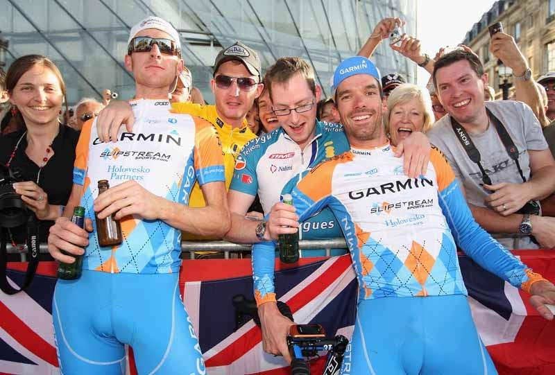 Brad Wiggins and David Millar, both British riders for Garmin-Slipstream