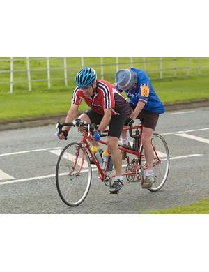 Alex Pattison and George Berwick ride tandem