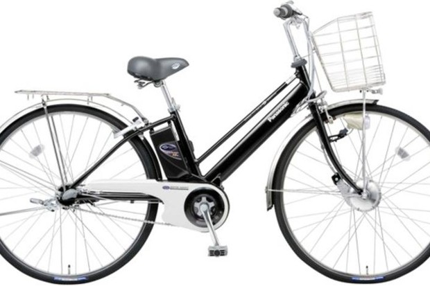 In the Netherlands, sales of e-bikes like this Panasonic Vivi RX-10S are now outstripping conventional city bikes