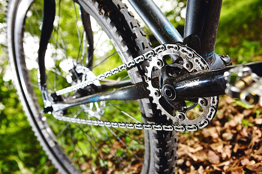 Flattened seat and  chain stays noticeably improve ride comfort