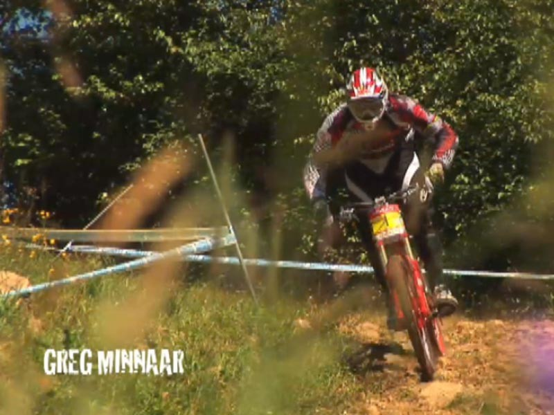Greg Minnaar during qualifying