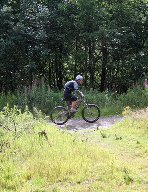Soaking up some of Glentress's great trails at the Garmin MTB Day