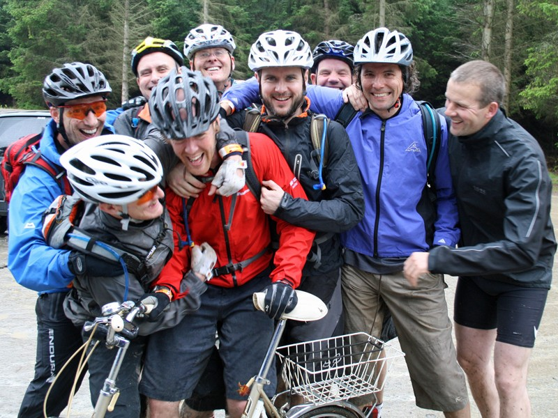 Rod Mason and his mates dropped into the Garmin MTB Day in Glentress as part of his stag do
