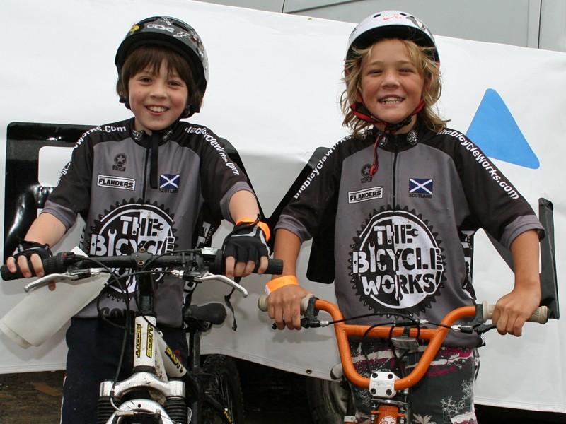 Rory Millington and Jack Fraser at the Garmin MTB Day, Glentress