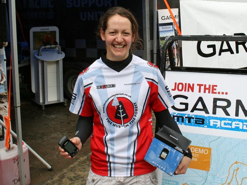 Lesley Ingram at the Garmin MTB Day, Glentress