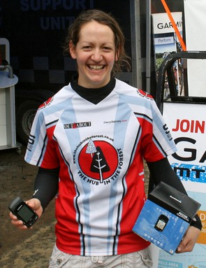 Lesley Ingram at the Garmin MTB Day, Glentress
