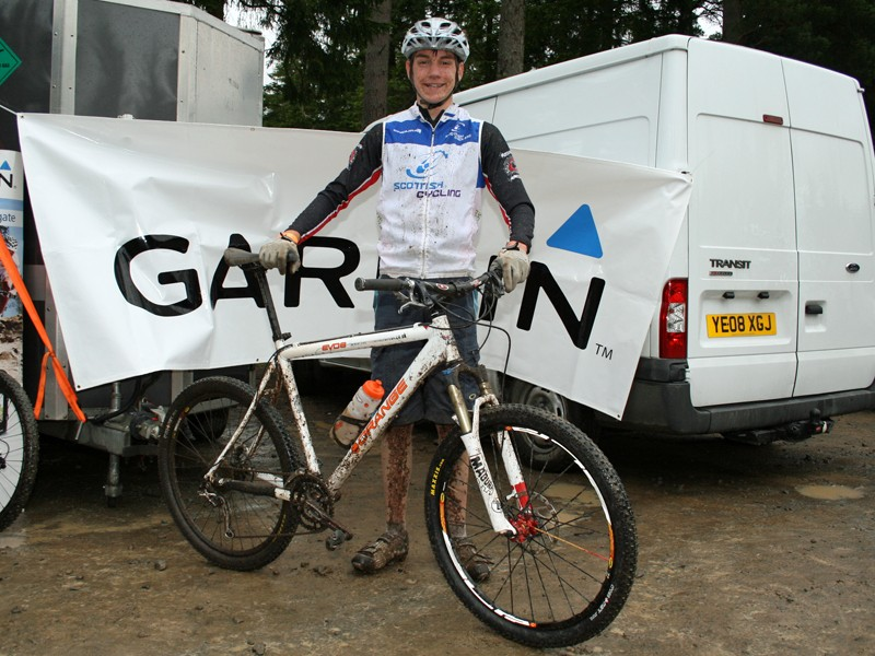 Lewis Kirkwood at the Garmin MTB Day, Glentress