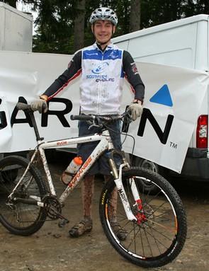 Lewis Kirkwood at the Garmin MTB Day, Glentress