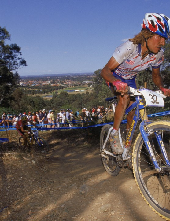 Juarez during the 2000 Summer Olympics men's cross-country race in Sydney, Australia