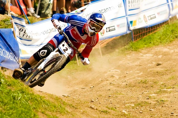 Gee Atherton at the 2008 World Champs, Italy