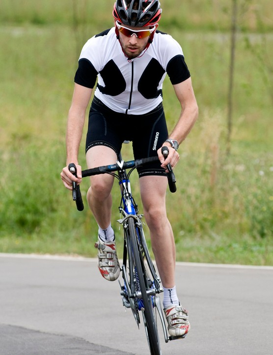 Rich Tyler takes his Ultegra 6700 equipped Pinarrelo for a spin