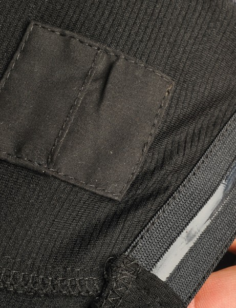 A silicone gripper along the rear lower hem helps keep the Rapha Lightweight jersery in place and there's also an interior 'pill pocket' for… pills?