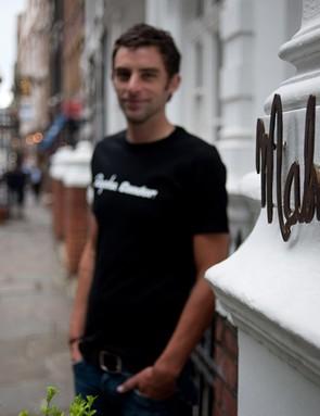 Kristian House and Tom Southam outside new sponsors Malmaison